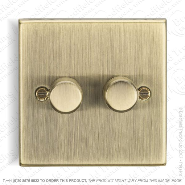 2g Dimmer Switch 150w LED Ant Brass ML