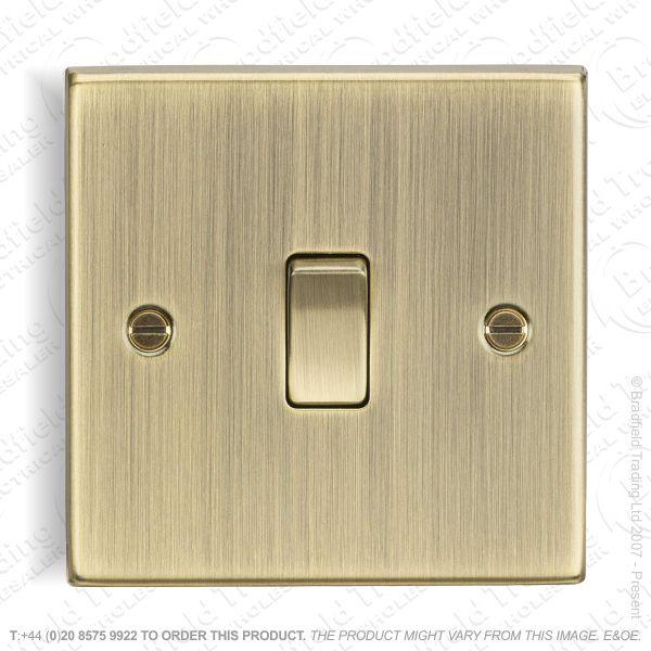 10A 1g 2way Switch Ant Brass ML