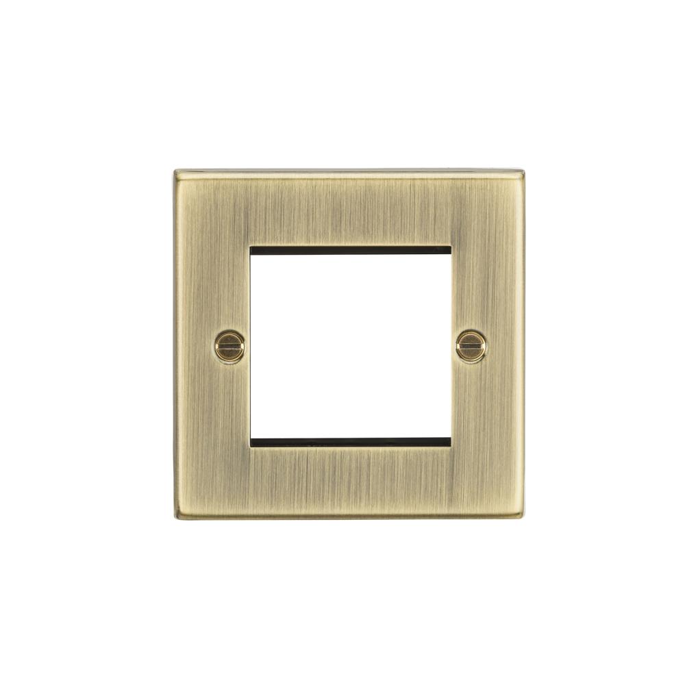 Euro Modular 2gang Plate  Ant Brass ML