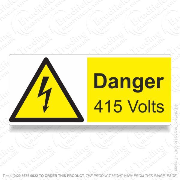 G53) Label *DANGER 415V* 80x35 Sticker