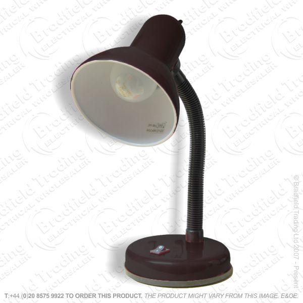 B10) Desk Lamp Bendy Arm black GLS 60W L958