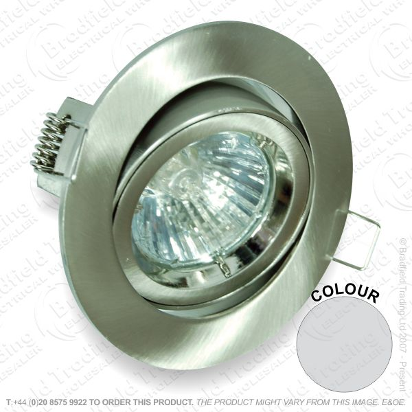 B33) Downlight DieCast Fitting Adj 82mm Chrom