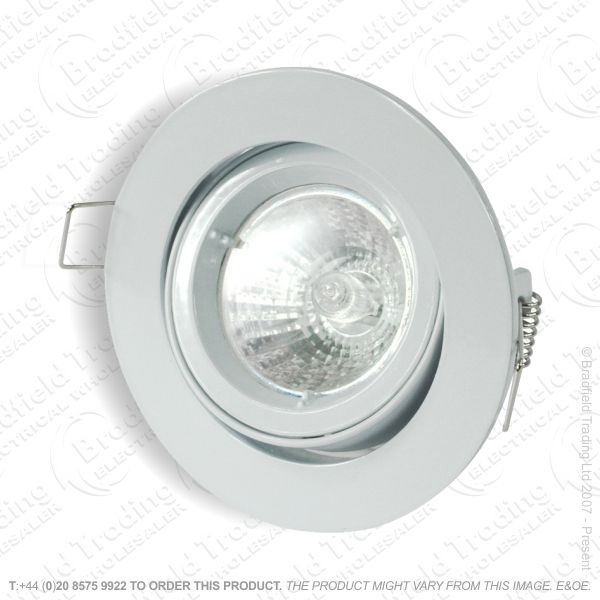 Downlight Die Cast Fitting Adj 82mm Wh
