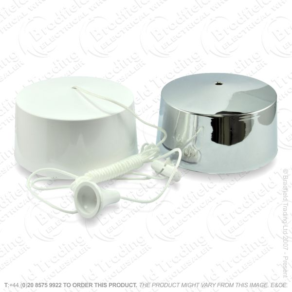 I13) Pull Dimmer Ceiling 250W white or chrome