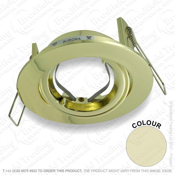 B33) Downlight Adj / Tilt GZU10 Pol Brass