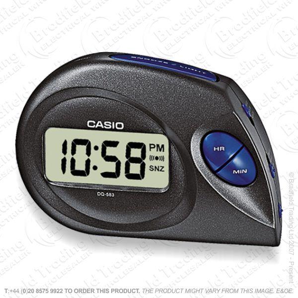 C30) Alarm Clock Digital CASIO Black