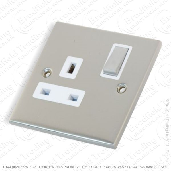 13A 1gang Switched Socket Satin SELECTRIC