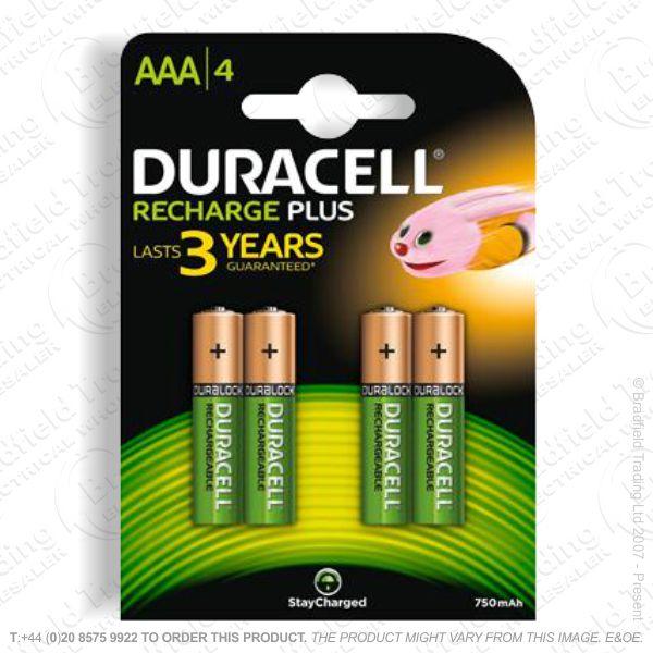 E10) Battery Rech AAA 1.2V 750mAH DURAC