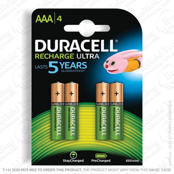 E10) Battery Rech AAA 1.2V 900mAH DURACELL