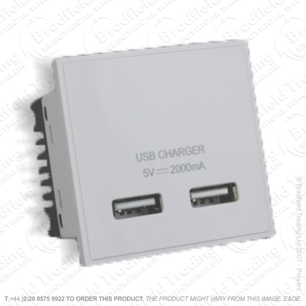 USB Charger Module Twin White VARILIGHT