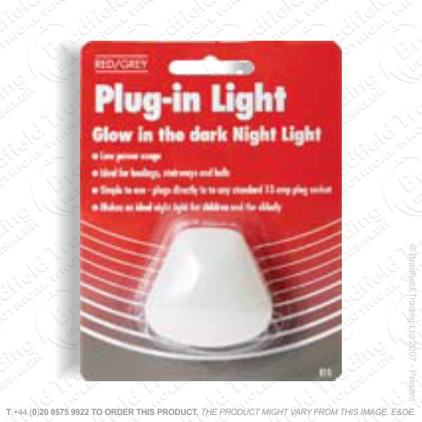 Night Light Plugin Glow LED REDGREY