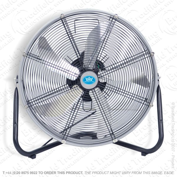 D07) Fans Floor 20  Blower HVelocity Chrome