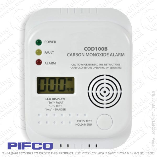 I05) Alarm Bat Carbon Mono LCD ECO