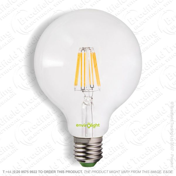 A34) 6W LED Globe Filament 27k ENVIROLIGHT