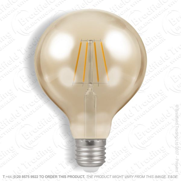 A34) 6W LED Globe Filament Amber 22k ENVIR