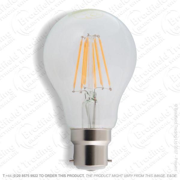 A19) 10W LED GLS BC Fillament Clear 27k ENVI