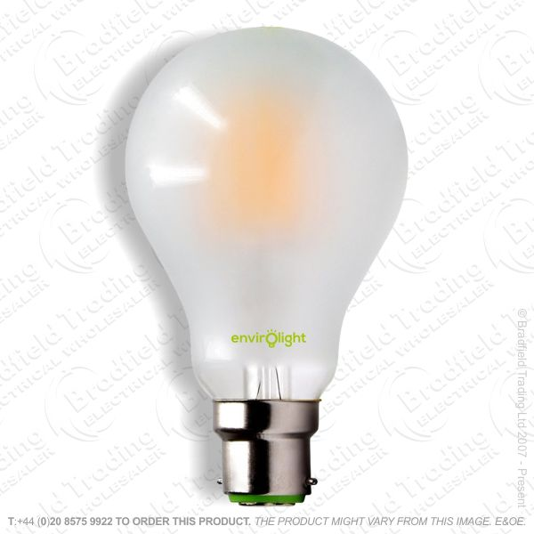 A19) 10W LED GLS BC Filament Frosted 27k ENVI