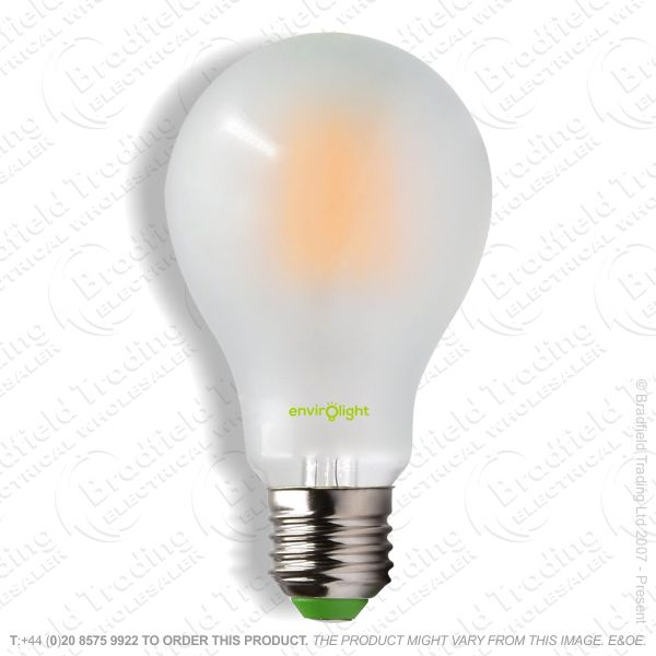 A19) 10W LED GLS ES Filament Frosted 27k ENVI