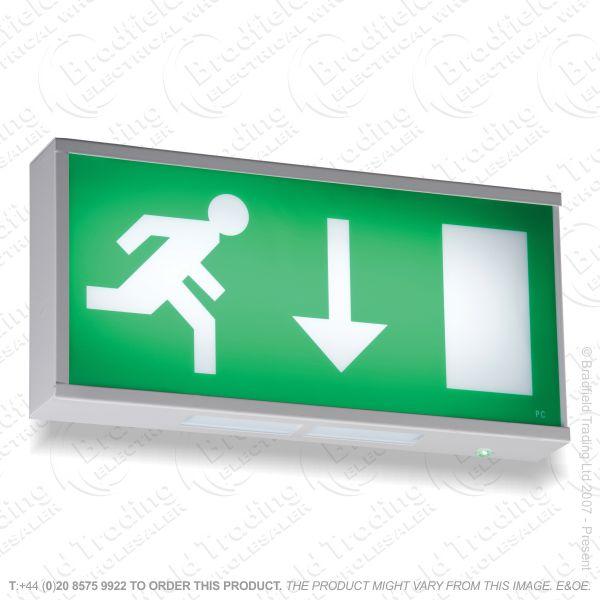 B18) Box Fitting LED Emergency 6W Exit Up