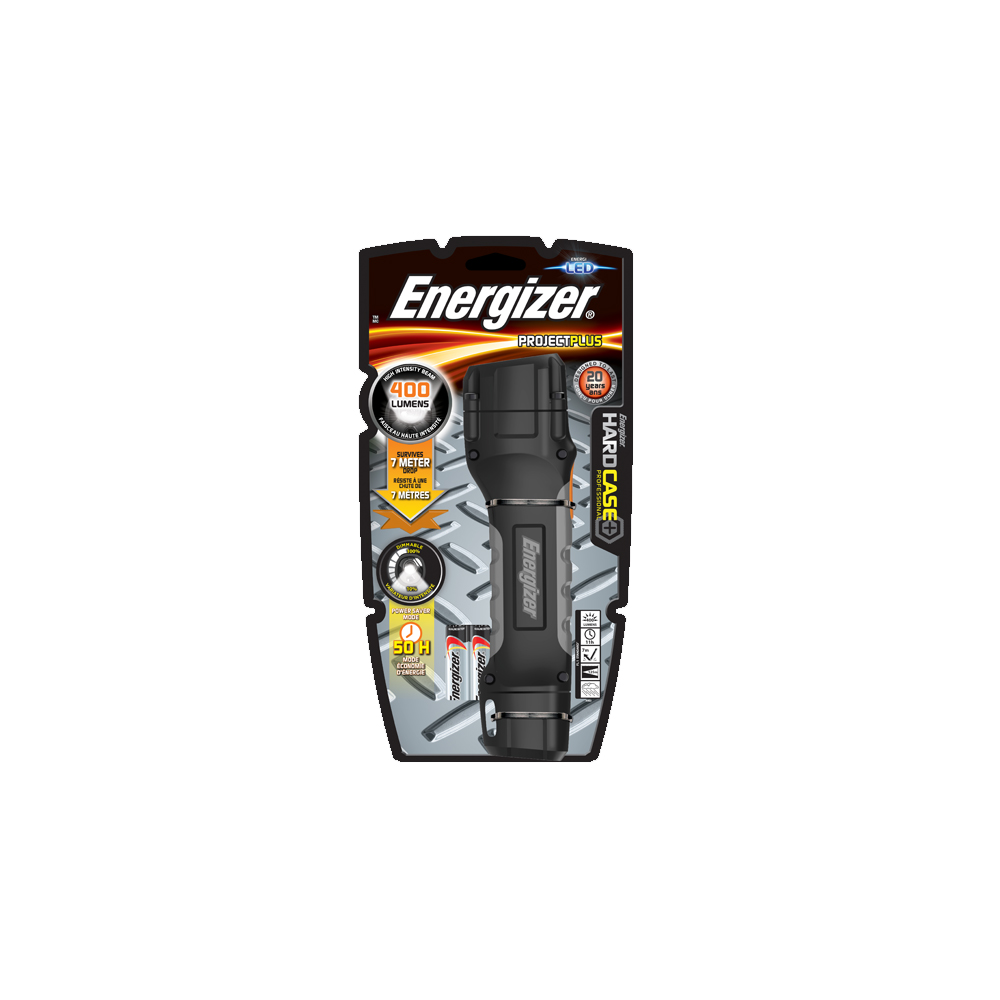 Torch Hard Case 4xAA 40-400lm ENERGIZER