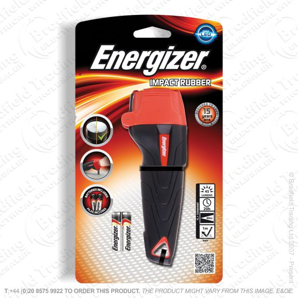 E42) LED Flashlight 2xAAA Impact ENER