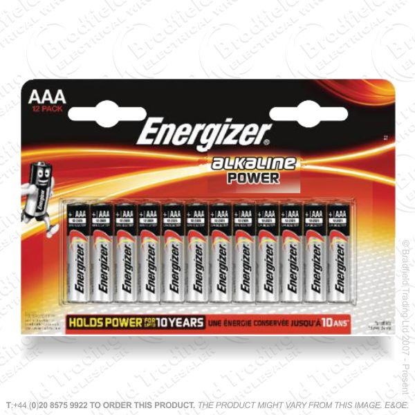 E05) Battery AAA Alkaline Power (12) ENERG