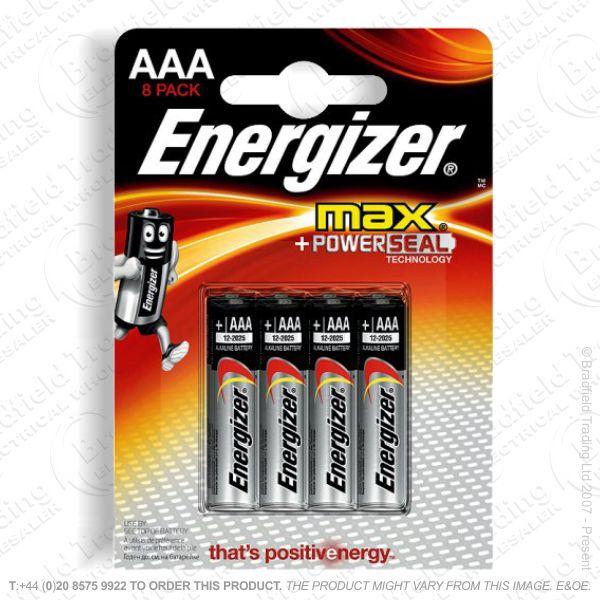 E05) Battery AAA 1.5v Ultr Plus (8) ENERG