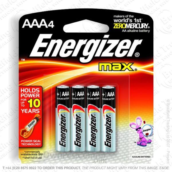 E05) Battery AAA 1.5v Ultr Plus (4) ENERG