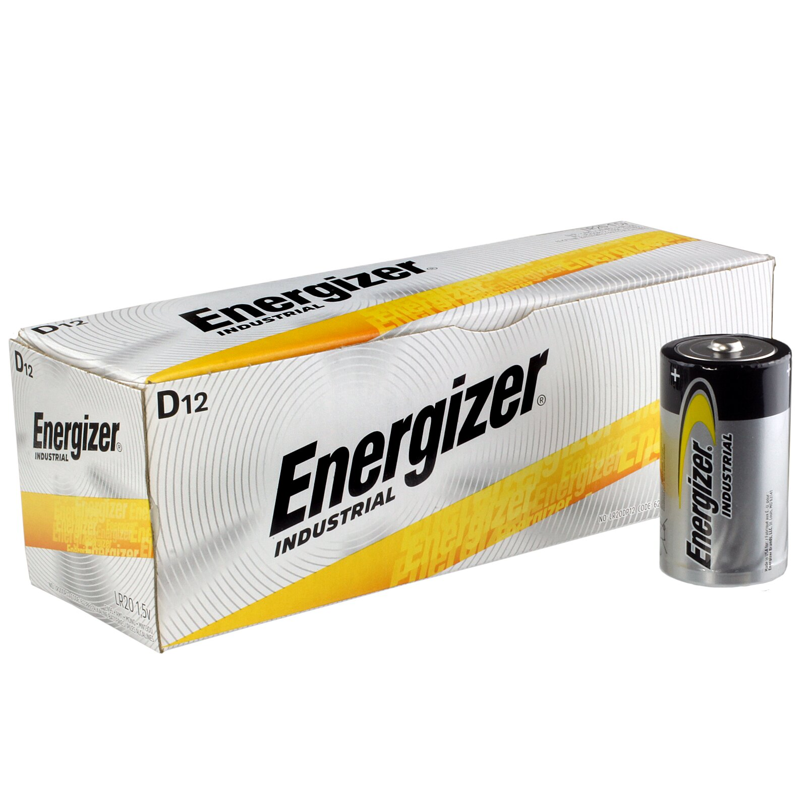 Battery D Size Industrial (10) ENERGIZER