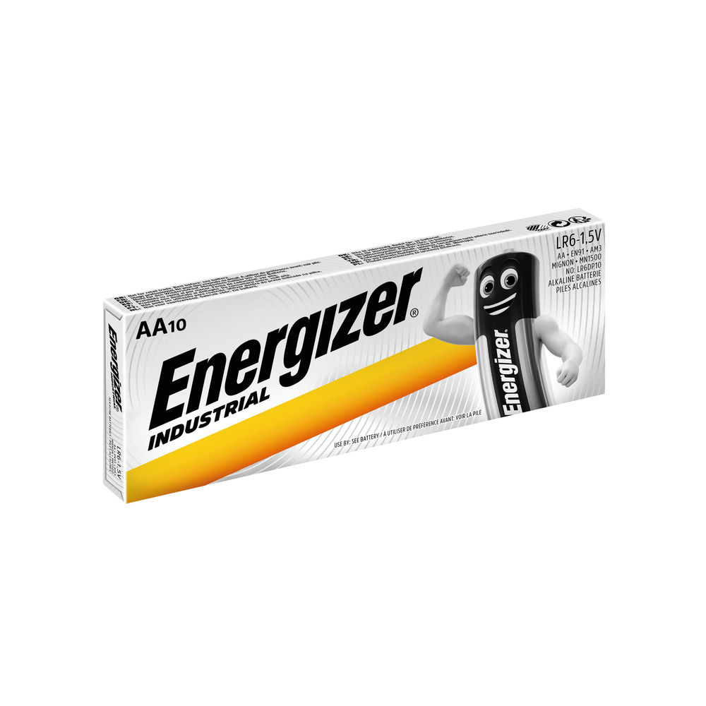 E05) Battery AA Industrial (10) ENERGIZER
