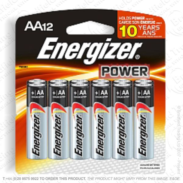 E05) Battery AA Alkaline Power (12) ENERG