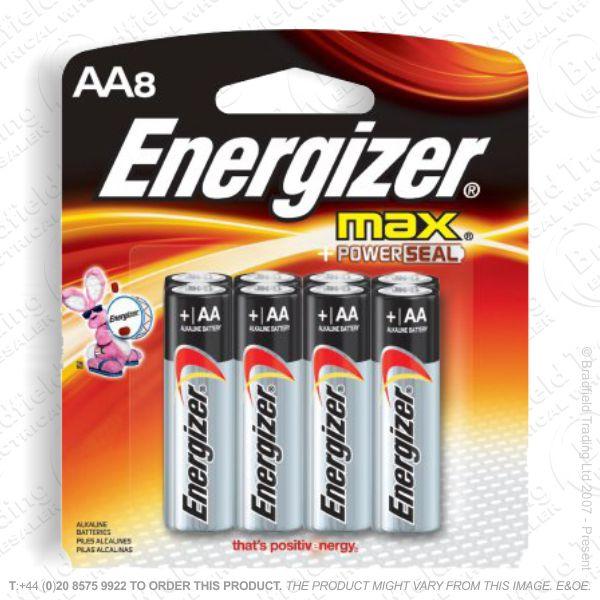 E05) Battery AA 1.5v Ultr Plus (8) ENERG