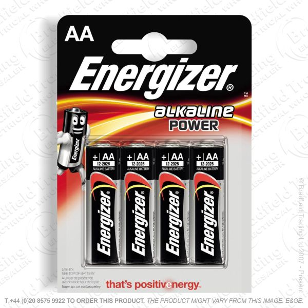 E05) Battery AA Alkaline Power (4) ENERG