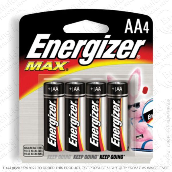 E05) Battery AA 1.5v Ultra Plus (pk 4) ENERG