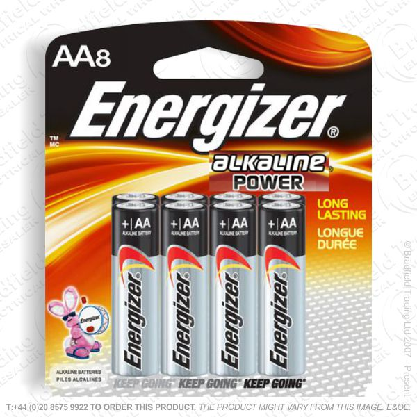 E05) Battery AA Alkaline Power (8) ENERG