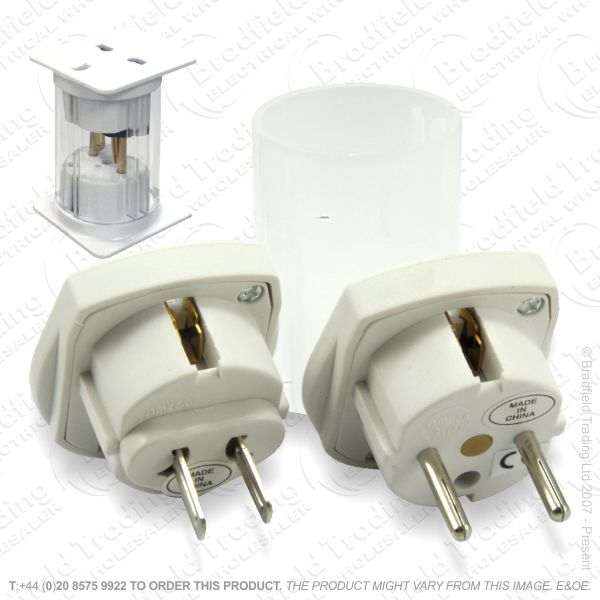 F11) Travel Adaptor UK sock - WORLD plug