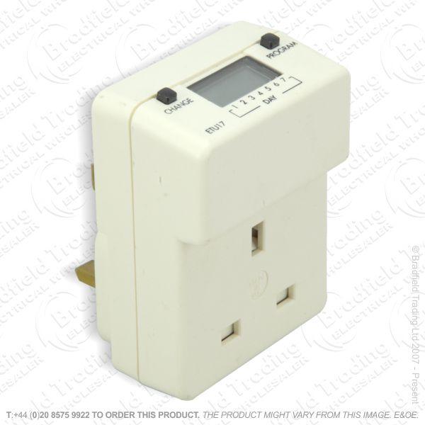 I10) Timer PlugIn Digital Mains 7Day TIMEGUAR