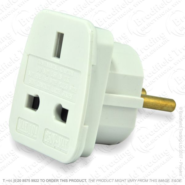 F11) Travel Adaptor UKsock - EUplug TVL1015
