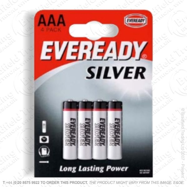 E06) Battery AAA 1.5v Super (pk 4) EVEREAD