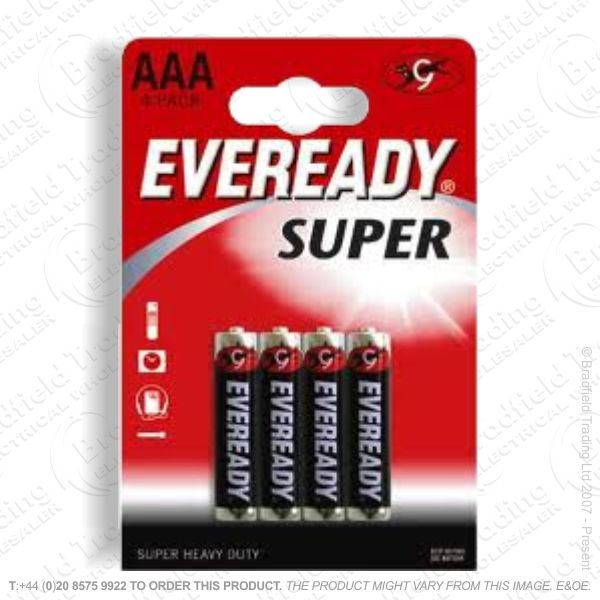 E06) Battery AAA 1.5V EVEREADY Super Bx12