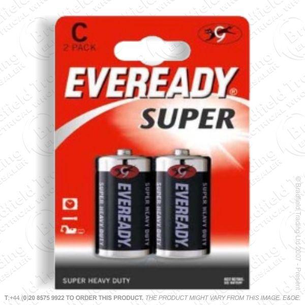 E06) Battery C 1.5V EVEREADY Super Bx24