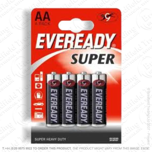 E06) Battery AA 1.5V EVEREADY Super Bx24