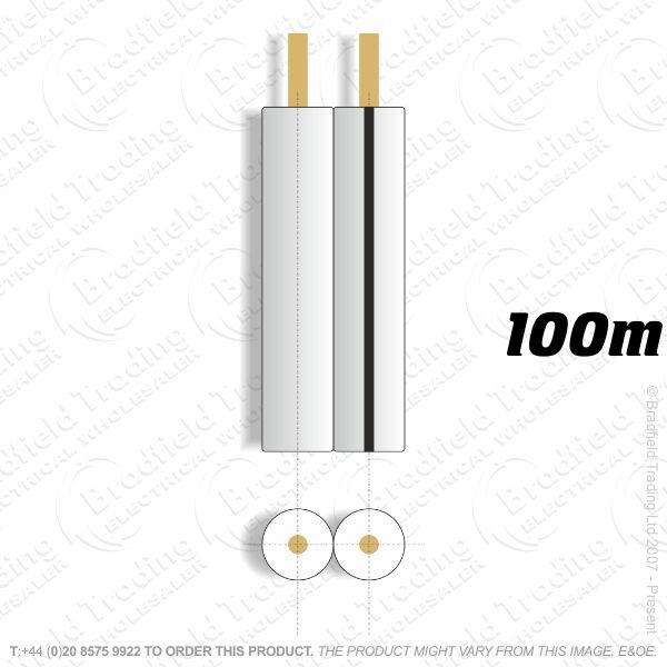 H08) Speaker Cable 79 Strand White 100M E621G