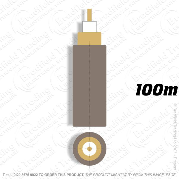 H09) Coax Brown 1mm 100M