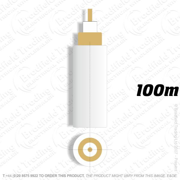 H09) Satellite Cable RG6 white 100M