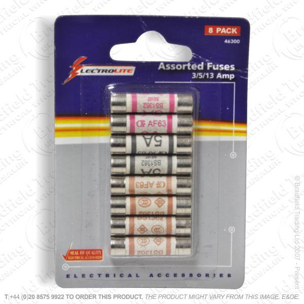 F12) Fuses Plug 3,5,13A Mix pk8 *Sigle CARD*