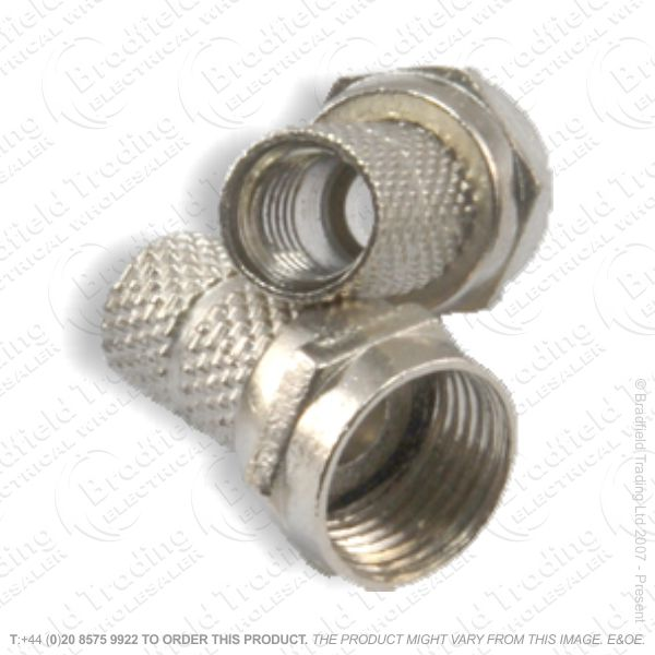 E30) F type Plug RG6 conn/twist Large