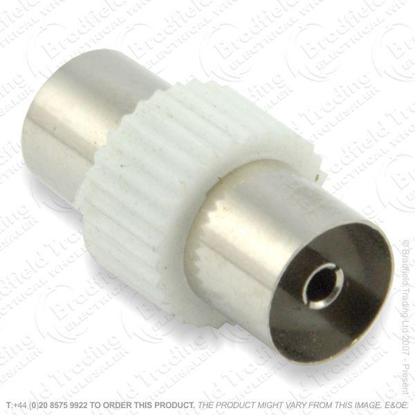 E31) Coupler Coax socket-s Metal Sold SINGLE*