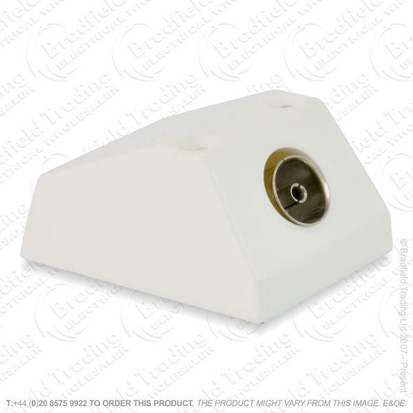 I30) Coax Socket TV Surface 1G white
