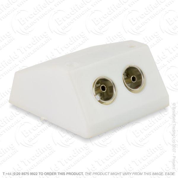 I30) Coax Socket TV Surface 2G white